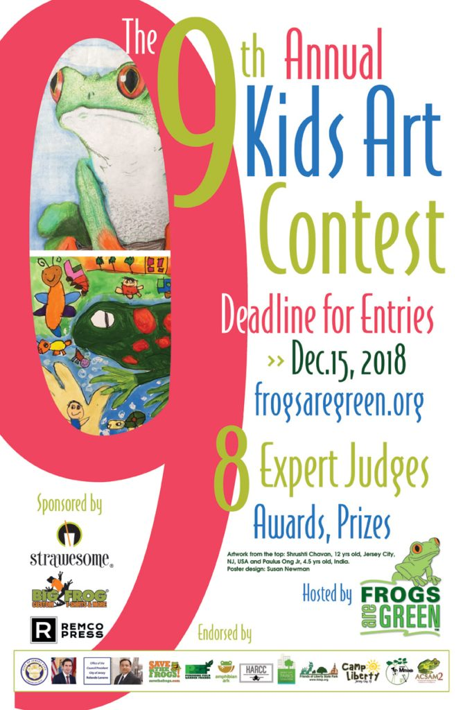 kids art contest 2018 hosted by Frogs Are Green