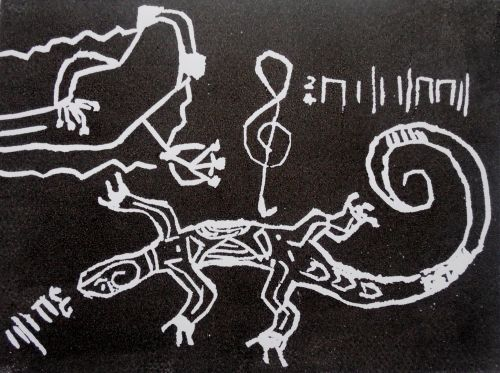 3rd Place Winner, Oliver Perrone, Hungary, Frogs Are Green Kids Art Contest, Best Black and White