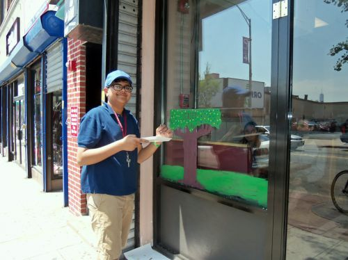 MS-4-student-paints-City-of-Trees-Jersey-City-349-Central-Ave