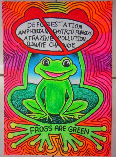 Honorable Mention, Angel Sealtiel S. Munoz, Philippines, Frogs Are Green Kids Art Contest, Best Typography
