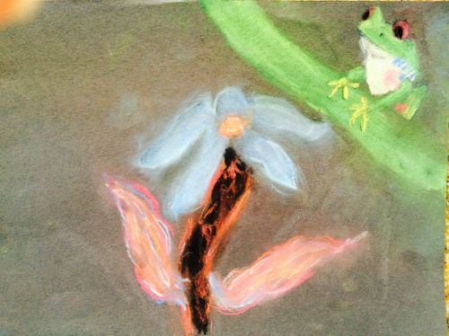 3rd Place Winner, Grace Demarest, California, Frogs Are Green Kids Art Contest - Ages 7-9