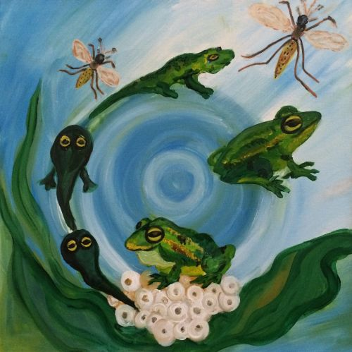 3rd Place Winner, Ada Zeylan, Turkey, Frogs Are Green Kids Art Contest ages 10-12