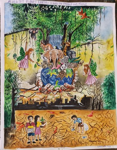 2nd Place - Somdetta Dey, 11 years old, best art from India 2020