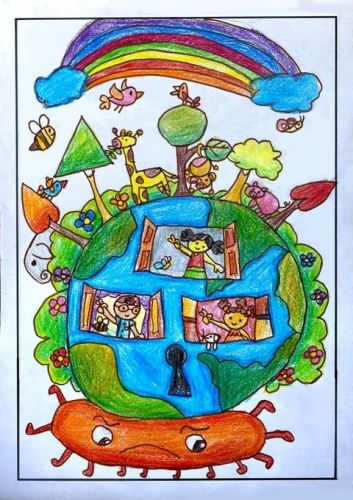 Adyaashree Rout, 7 years old, best art from India 2020