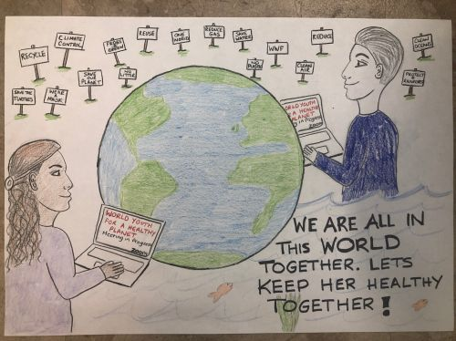 Cora Kerr, 11 years old, NJ, USA, best environmental message 2020