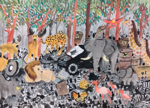 Huang Tzu Wei_8 years old_Taiwan_Garbage forest, 2019