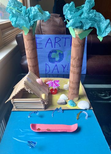 A A K from Hoboken - Earth Day 2020 3D artwork made from recycled materials - view 5