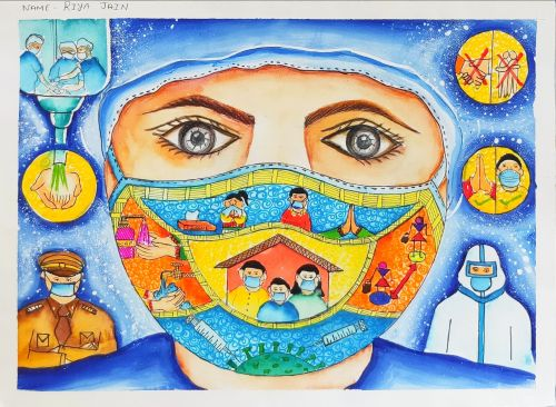 1st Place - Riya Jain, 17 yrs, India-best art from India 2020