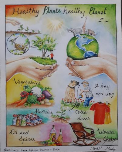 Monojit Maity, 10 years old, India, best environmental message 2020