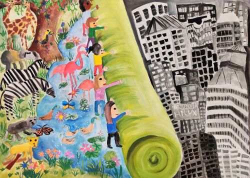 3rd Place - Wu Yu Hsuan, 9 years old, Taiwan, best environmetal message 2020
