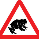 Slow down: Toads Crossing!