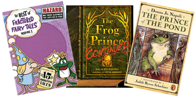 "Pictured above, from left to right are ""The best of Fractured Fairy Tales, Volume 1"", ""The Frog Prince, Revisited"" and  ""The Prince of The Pond."""