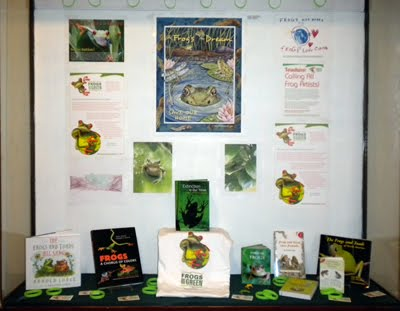 FROGS ARE GREEN display currently at City Hall, Hoboken, New Jersey