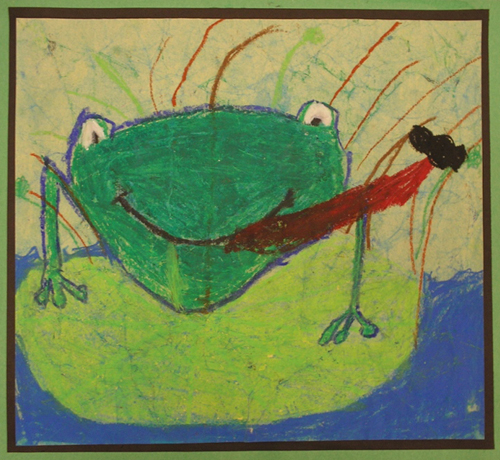 Winner of Frogs Are Green kids art contest 2010 - age group 3-6