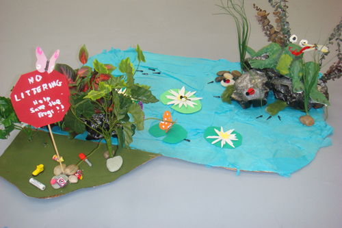 3D Frog Sculpture by Adriana Ledoux, age 8 from Ivy Hawn Charter School of the Arts, Lake Helen, FL.