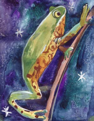 """Wild Frog"" artwork by Alyona Kuzmuk, 9 yrs old, West Sacramento, CA."