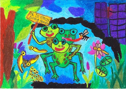 Artwork by Viruja Vidumitha Handunpathirana, 5 yrs old, Kalutara, Sri Lanka