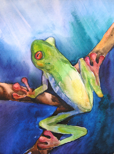 Watercolor artwork by Mariya Grabovska, 10 yrs old, Roseville, CA.