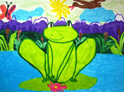 Artwork by Valeriy Karabchukova, 7 yrs old, Belgrade, Serbia.