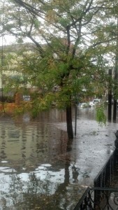 The view from my front stoop in Hoboken the day after Superstorm Sandy