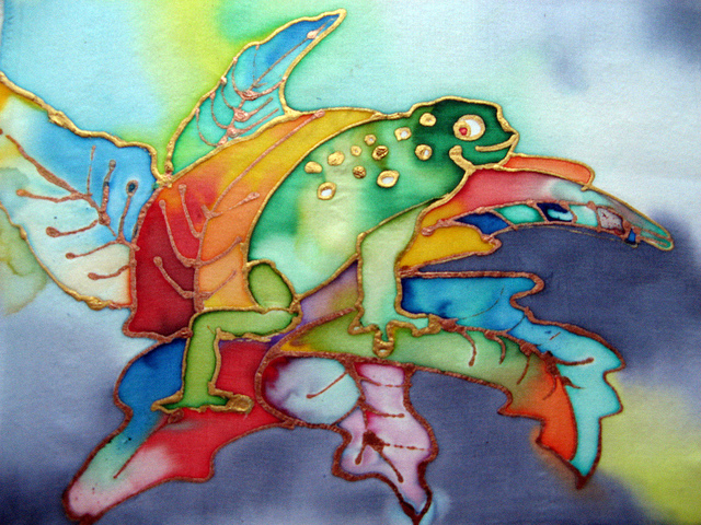 1st place 10-12 yrs 2012 Frogs Are Green Kids' Art Contest - Laura Krišjāne