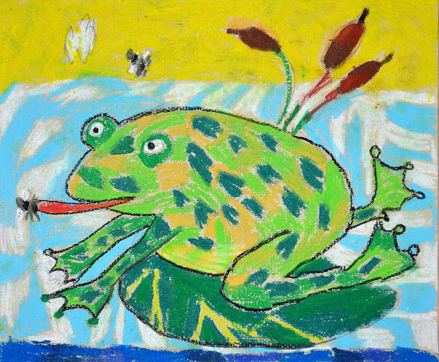 1st Place Winner 3-6 yrs, Frogs Are Green 2012 Kids' Art Contest - Todor Gargov