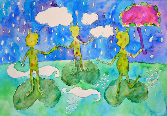 1st Place 7-9 yrs - 2012 Frogs Are Green Kids' Art Contest - Viktoria Kovacheva