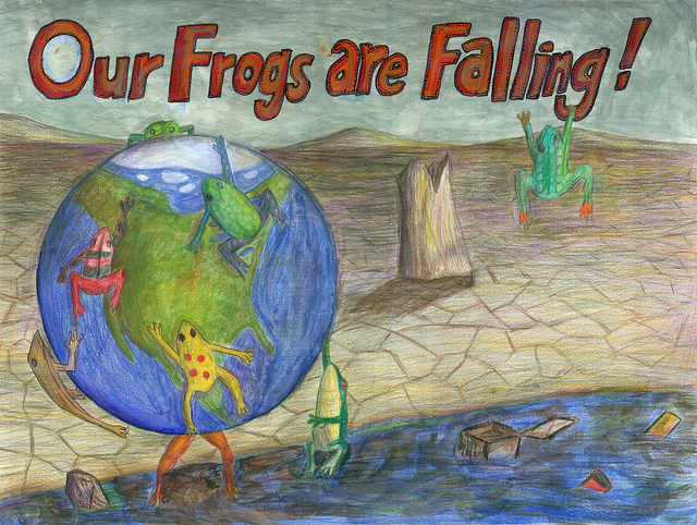 1st place - best eco art - 2012 Frogs Are Green Kids' Art Contest - Aaron Wang