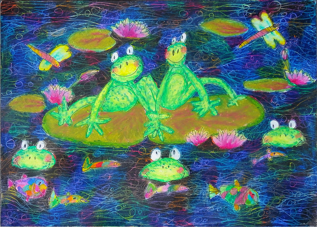 2nd Place 2012 Frogs Are Green Kids' Art Contest - Kenard Alvaro Hadinata