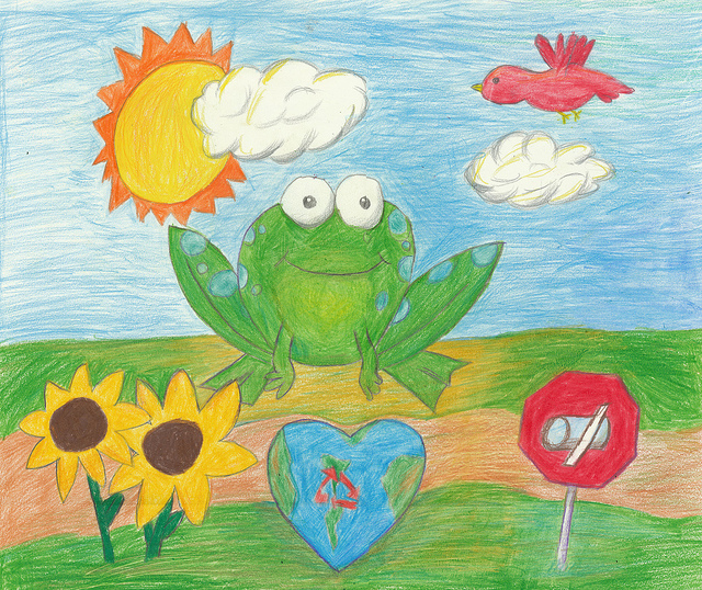 2nd place - best eco art - 2012 Frogs Are Green Kids' Art Contest - Alton Wang