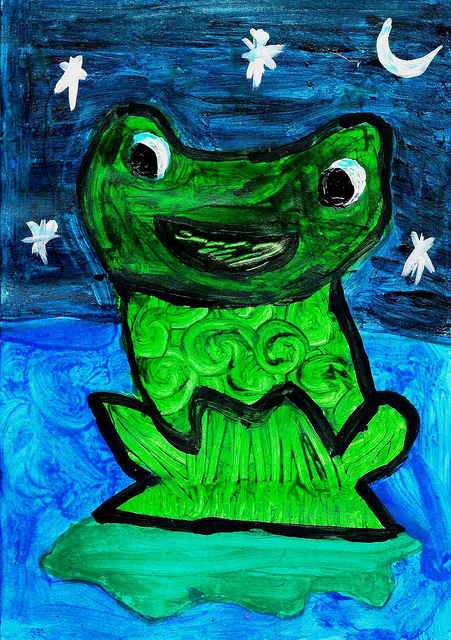 3rd Place 2012 Frogs Are Green Kids' Art Contest - Essa Ahmed Ansari