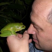 Phil Bishop and frog
