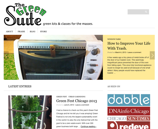 The Green Suite website