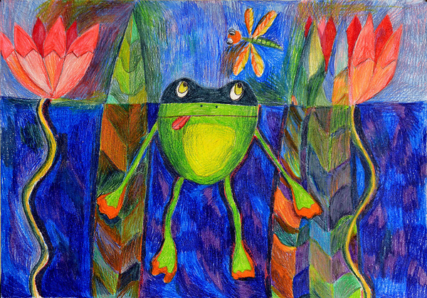 1st winner, Beata Lastovko, age 10, Estonia, kids art contest