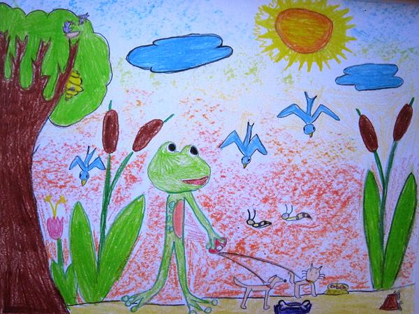 1st Winner age 6 Mia Dmnjanovic, kids art contest