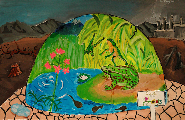 2nd Winner, Tiffany Li, 9yrs, USA, Kids Art Contest