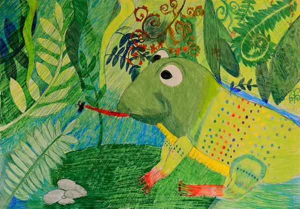 3rd winner, Karina Gnatova, 9yrs, Estonia, kids art contest