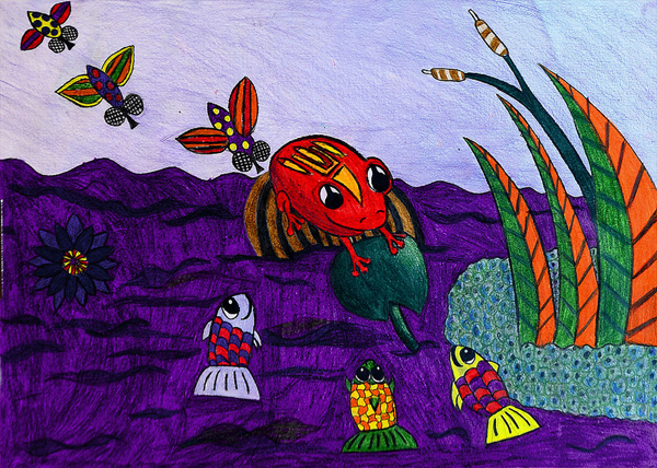 3rd winner- jekaterina poljakova, 10 yrs, Estonia, kids art contest,