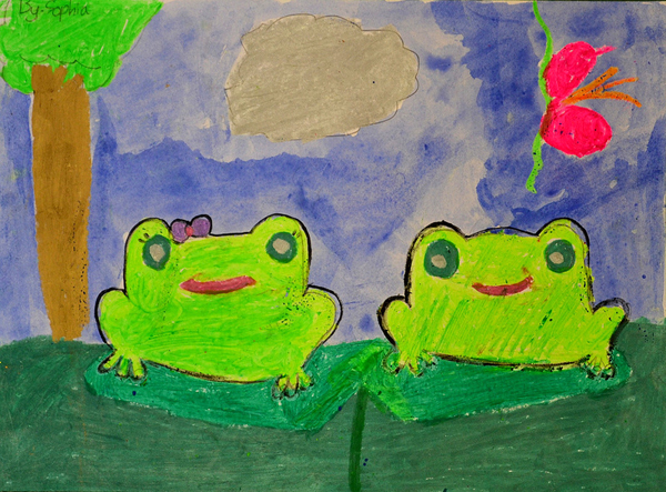 3rd winner, age 6, Sophia Blanck, Macedonia, kids art contest