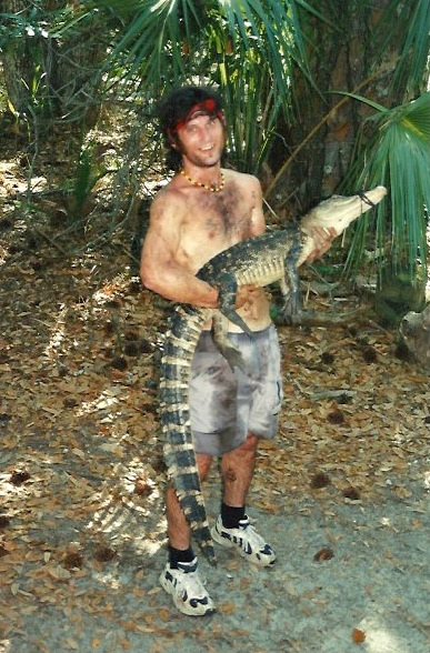 David Veljacic with alligator
