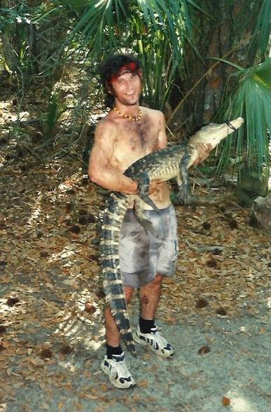 David Veljacic with alligator