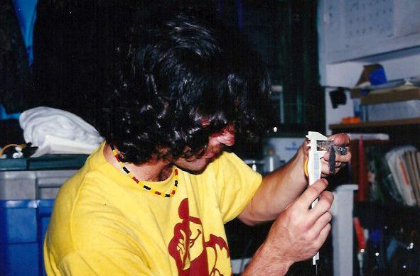David Veljacic measures turtle