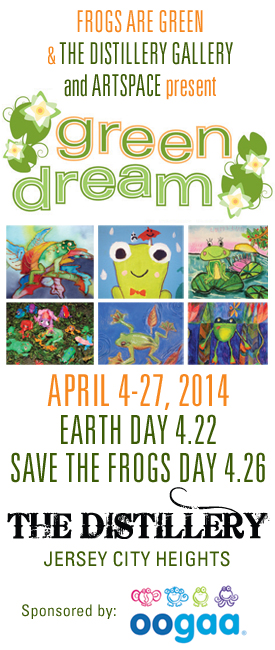 Green Dream - International Children's Earth Day Exhibition at The Distillery Gallery and Artspace in Jersey City, NJ.