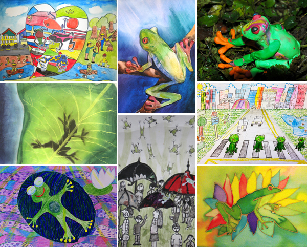 award winning kids frog art