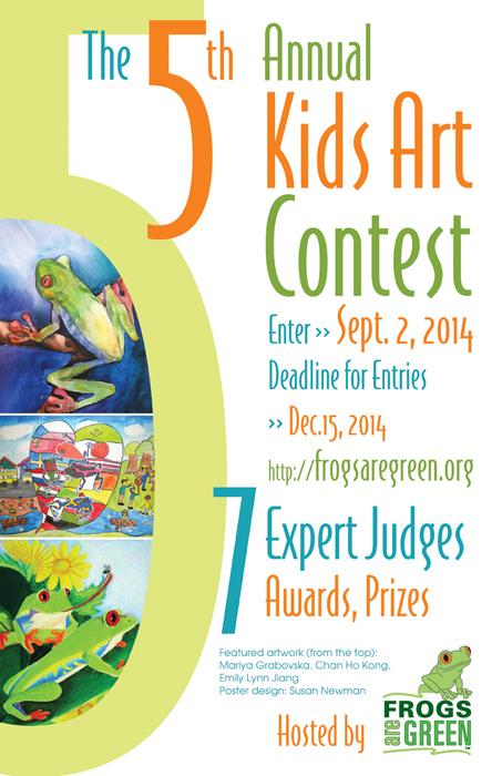 5th Annual Frogs Are Green Kids Art Contest Poster 2014