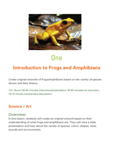 Frog Curriculum sample pages from chapter one