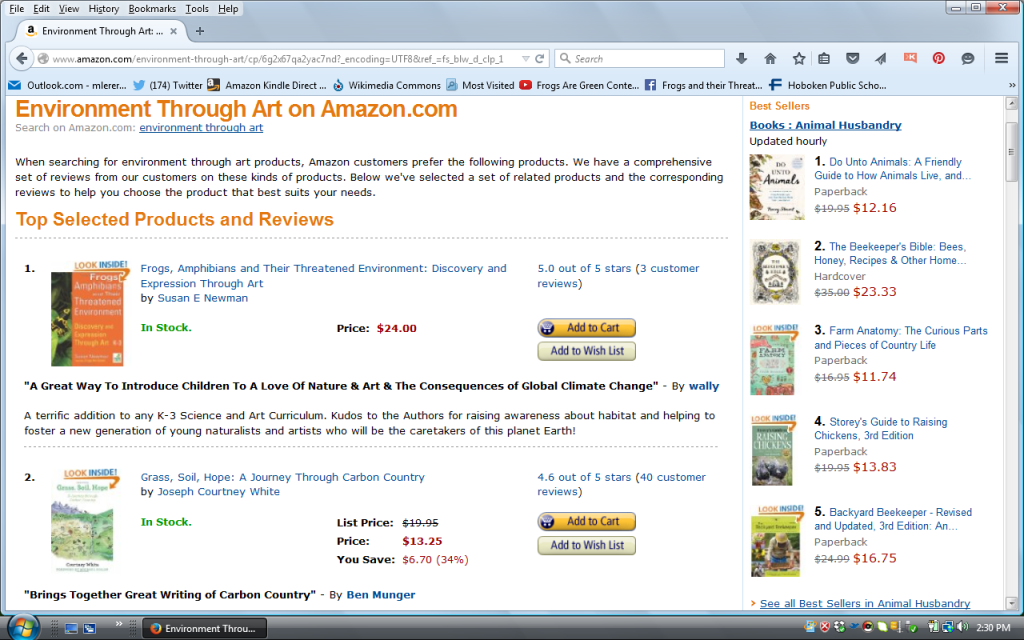 Amphibian Environment Through Art #1 on Amazon