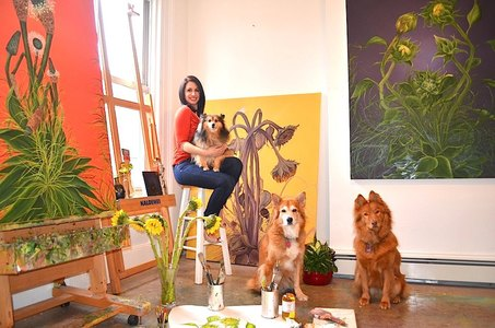 Allison Green, Jersey City Fine Artist in her Studio