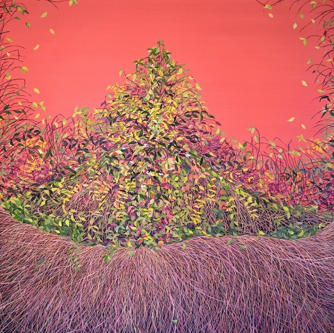 "Sienna Thicket (Thicket #4) 2011, - Oil on Canvas, 48"" x 48"""