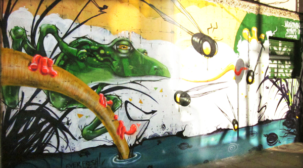 Brazil frog mural by Mike Maka